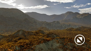 Planetside Terragen 4 rendered landscape